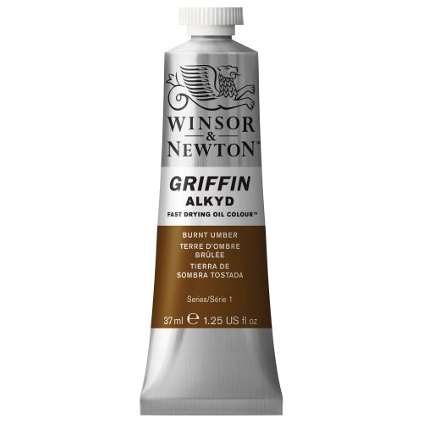 Winsor & Newton Griffin Alkyd Fast Drying Oil Colour Paint, 37ml tube, Burnt Umber