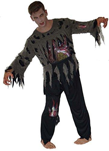 Unbekannt Zombie Kostüme Tod Geist Gespenst Herren Zombies, Größe:L;Modell:Schwarzer Zombie