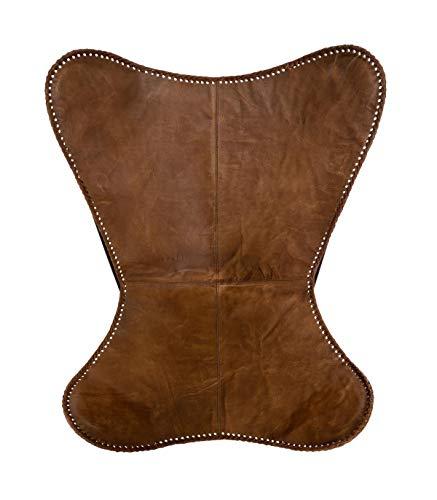 Atmosphera – Sitzfläche aus Leder, Braun Cognac, für Sessel Butterfly Dario