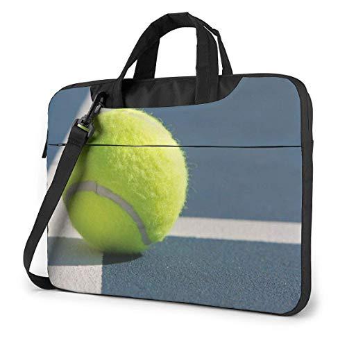 Tennis Ball On Line Laptop Sleeve Case 15.6 Inch Computer Tote Bag Shoulder Messenger Briefcase for Business Travel
