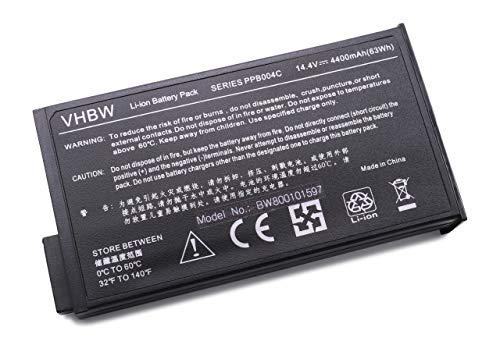 vhbw Akku schwarz passend für HP/CompaQ NW8000-DU675P, NW8000-DV889C, NW8000-DY807UZ, NW8000-DZ511PA Laptop, Notebook (4400mAh, 14.4V, Li-Ion)