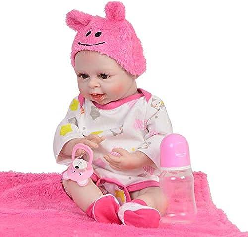 Volle silikon   16 Realistische Reborn Babypuppe, Weiße silikon Suchen Neugeborenes Babypuppe Beste Geburtstagsgeschenk für Alter 3