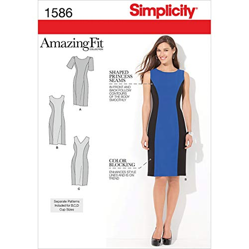 Simplicity 1586 Women's Fit Dress Sewing Pattern, Sizes 10-18