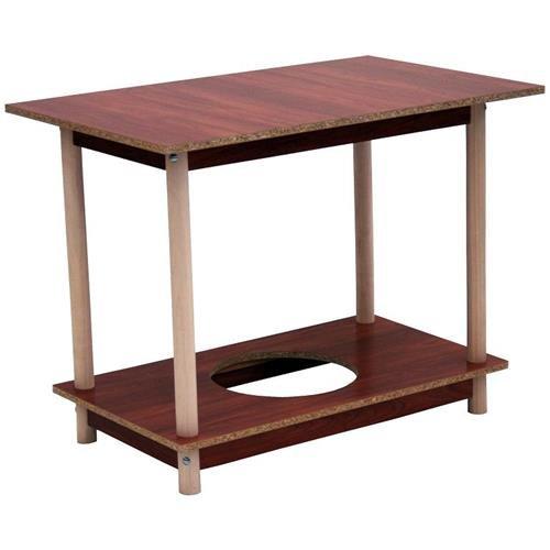 Monchy 80639 - Mesa camilla rectangular de madera 100x60cm