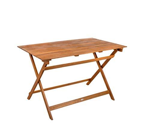 Aktive - Mesa rectangular madera de acacia 120 x 70 x 74 cm