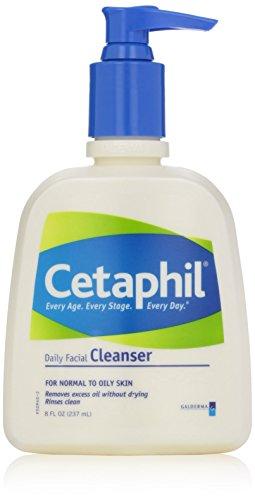 Cetaphil Lot de 3 flacons de nettoyant quotidien pour le visage pour peaux normales à grasses, 236 ml