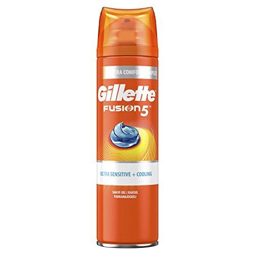 Gillette Fusion5 Ultra Sensitive and Cooling Men's Shaving Gel, 200 ml