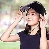 Webla Ciclismo al aire libre Sombrero para el sol Visera Sombrilla Cubierta para la lluvia Protección UV ajustable Protección para el sol y el brazo(Negro)