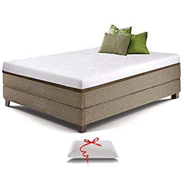 Live and Sleep Resort Ultra, King Size 12-inch Medium Firm Cooling Gel Memory Foam Mattress with Luxury Form Pillow, Certipur-US Certified plus 20-Year Warranty
