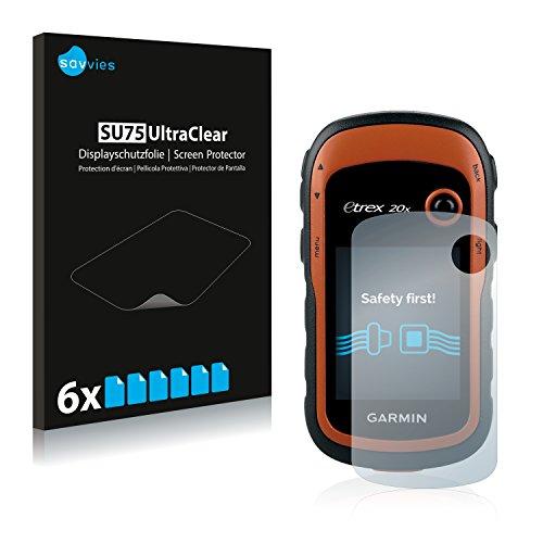 savvies Protector Pantalla Compatible con Garmin eTrex 20x (6 Unidades) Pelicula Ultra Transparente