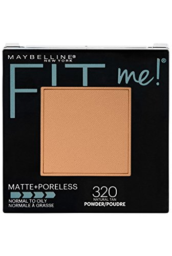 Maybelline New York Fit Me Matte + Poreless Powder Makeup, Natural Tan, 0.29 Ounce, 1 Count