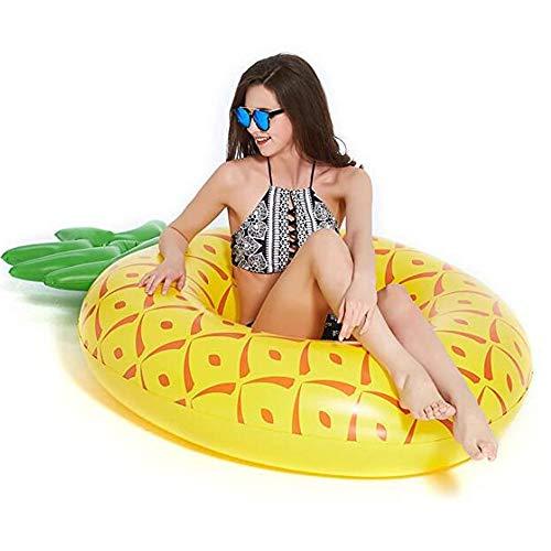 WX Anillo de natación inflable, fila flotante, flotador gigante de piña para adultos y niños, juguetes divertidos para la playa de la piscina