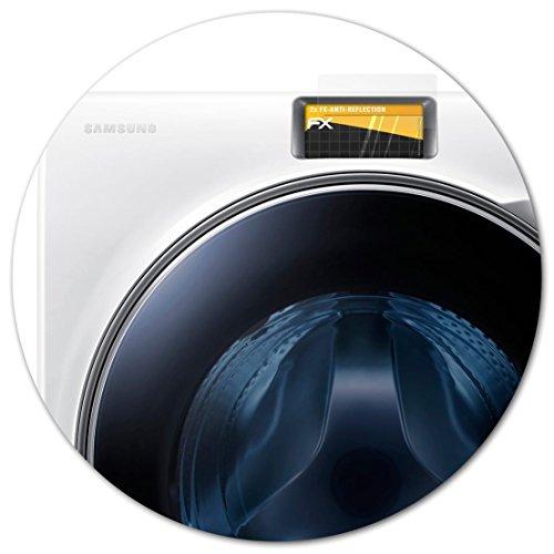 atFoliX Panzerfolie kompatibel mit Samsung WW10H9600EW/EG Schutzfolie, entspiegelnde und stoßdämpfende FX Folie (2X)