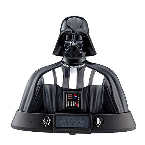 Altavoz Bluetooth Darth Vader de Star Wars con activación de voz para el altavoz, compatible con iPhone, Samsung, tabletas y todos los demás dispositivos Bluetooth.