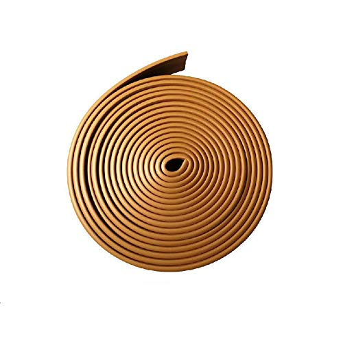 FiveFive Espuma zócalo bordeando línea de cintura autoadhesiva anti-colisión pegatinas de pared para dormitorio fondo decorativo (5 mx10 cm, amarillo)