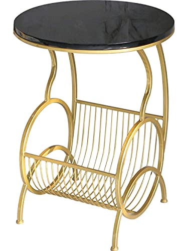 N/Z Home Equipment Cocktail Table Nordic marble corner table wrought iron magazine rack living room coffee table mini round table sofa side table simple modern