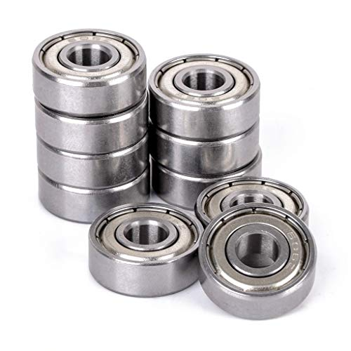 Donepart 608ZZ Bearings Skateboard Bearing C3 High Speed 8mmx22mmx7mm Bearings for Skateboards, Electric Motor, Wheels, Scooters, Longboard, 3D Printer, Spinners (10 Pack)