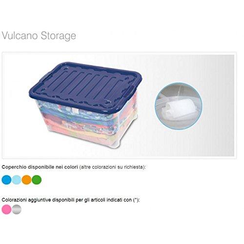 House & Style Volcan Box Storage Small, Vert, 40 x 30 x 17 cm, 40 Unités