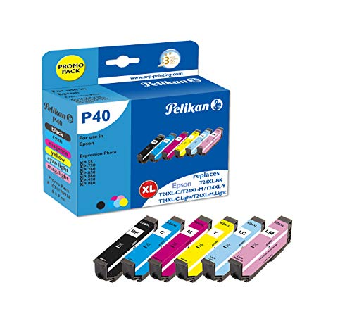 Pelikan - Cartuchos de Tinta para Epson T24XL