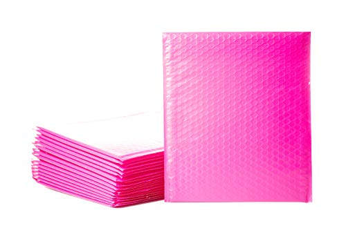 Empire Mailers #5 10.5 x 16-inch Hot Pink Padded Envelopes, Self Seal Mailers, Bubble-Lined Shipping Envelopes, Mail-Approved Poly Bubble Mailers, Self-Sealed Mailing Packages, Pack of 25
