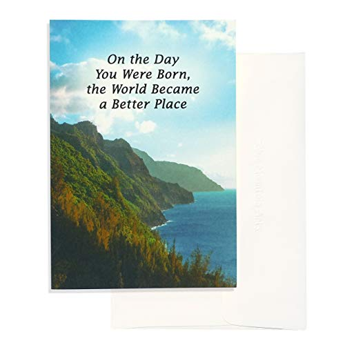 """Blue Mountain Arts Greeting Card """"On the Day You Were Born, the World Became a Better Place"""" Shares Birthday Wishes with Someone Important to You, by Jason Blume"""