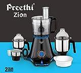 Preethi Zion MG-227 Mixer Grinder, 750W, 4 Jars (Black)