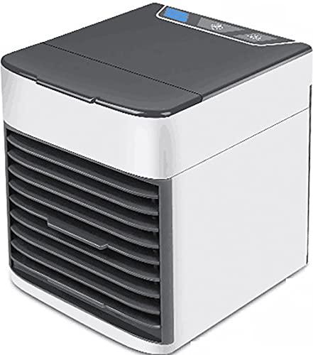 CAIMO Aire Acondicionado Personal Ventilador de refrigeración portátil Ventilador de refrigeración de Escritorio pequeño Hogar para Mini USB Humidificador de Aire Recargable para