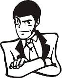 Galuisi Adesivo Sticker Lupin III (Lupen) 14 * 11 cm (Nero Lucido)
