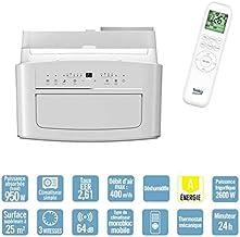 Mobiles Monoblock-Klimagerät mit Kältemittel R290 – 64 dB – 400 m³/h – Weiß