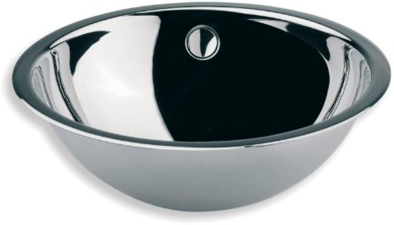 Lineabeta Einbaubecken Handwaschbecken Edelstahl mit Rand 44cm
