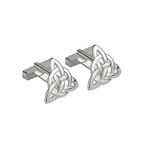 Trinity Knot Cufflinks Rhodium Plated Made in Ireland