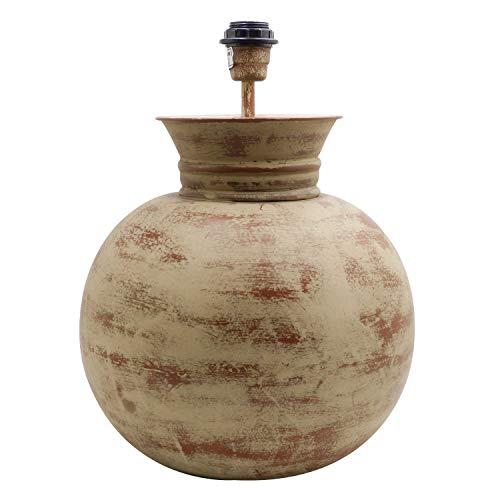 Lámpara de mesa bola acabado, color marrón. Medidas: 32 x 32 x 42 centímetros. Material: metal (referencia: 3192825)