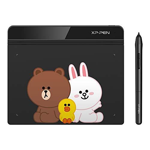 XP-PEN G640 Grafiktablett 6 x 4 Zoll Tablet zum Zeichnen mit Digitalstift 20 Ersatzspitzen OSU Spielen