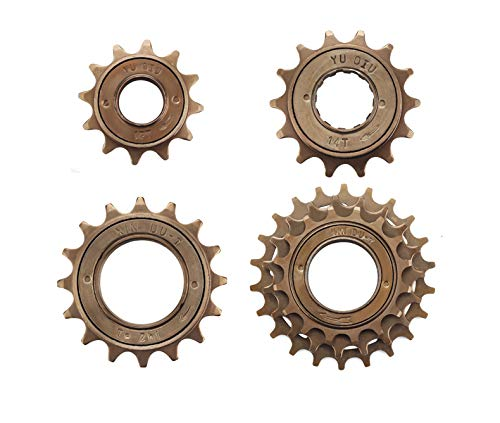 MINGYNS Single Speed Freewheel Bicycle 1 Speed 3 Speed Flywheel 12T/14T/16T/19T/22T Bike Flywheel MTB BMX (16T)