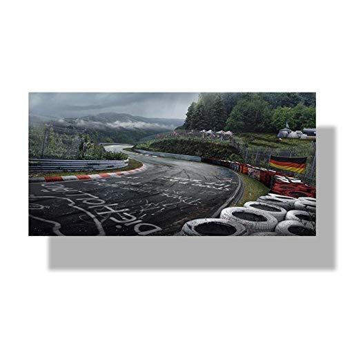 LDTSWES Nurburgring Rally Road Sports Car Track Puzzle, Puzzle de Montaje de 1000 Piezas Swooden, para niños Adolescentes Educación Aprendizaje Regalos Regalos Puzzle