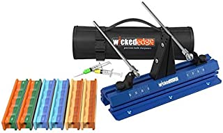 Wicked Edge GO Deluxe Pack - Precision Knife Sharpener - with Deluxe Bag and Additional Abrasives