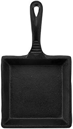 CasaModa Pre Seasoned Cast Iron Mini Square Fry Pan 5 Inch Small product image