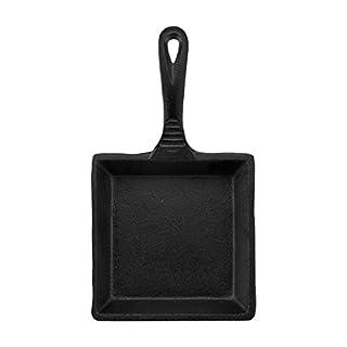 CasaModa Pre-Seasoned Cast Iron Mini Square Fry Pan, 5-Inch,Small (B07537VWWL) | Amazon price tracker / tracking, Amazon price history charts, Amazon price watches, Amazon price drop alerts