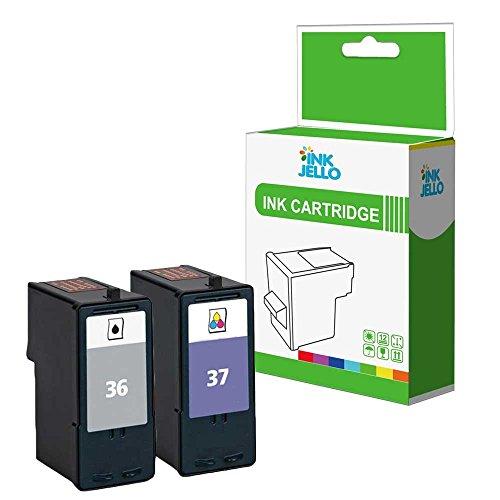 inkjello wiederaufbereitete Tinten patrone Ersatz für Lexmark X3650X4650X5650X6650Z2420X3630X4630Z2400Z2410X667536x l/37x l (schwarz/dreifarbig, 2er Pack)
