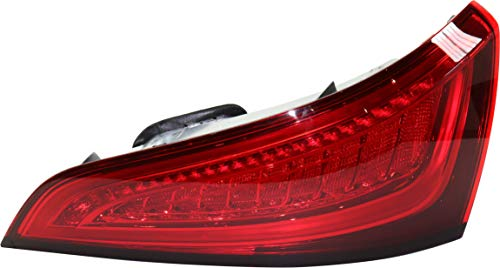 Tail Light Assembly Compatible with 2013-2017 Audi Q5 and 2014-2017 SQ5 Red Lens Passenger Side Upper