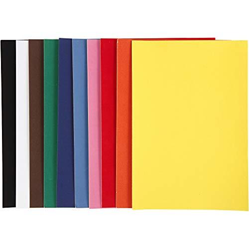 Velourspapier A4 21x30cm 140g sortiert Farben, 50 Blatt