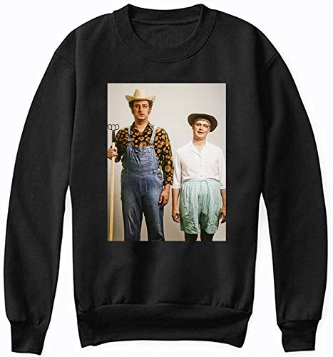 Tim and eric Graphic Dr Steve Brule Funny Jan and Wayne Men Women Unisex Sweatshirt (Black-M)