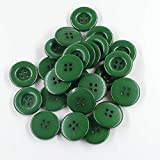 10 Botones de resina de color liso 15mm-varios Colores Disponibles