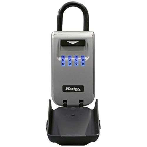 Master Lock 5424D Set Your Own Combination Portable Lock Box with Light Up Dials, 6 Key Capacity
