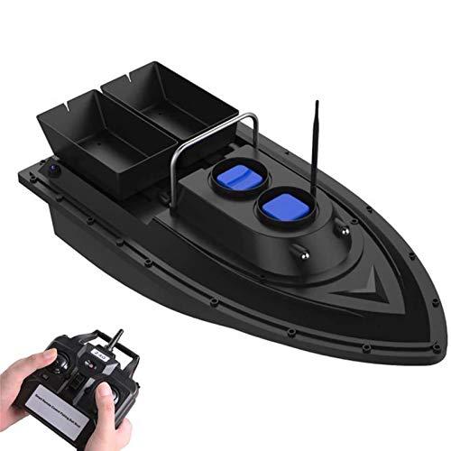 HXZB Fishing Bait Boat Smart RC Boat Fish Finder 1.5kg Loading 500m Wireless Remote Control 2 Motors 2 Bait Bin Rechargeable Battery