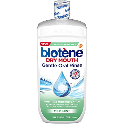 Biotene Dry Mouth Gentle Oral Rinse Soothing Moisturization, Mild Mint, 33.8 fl oz
