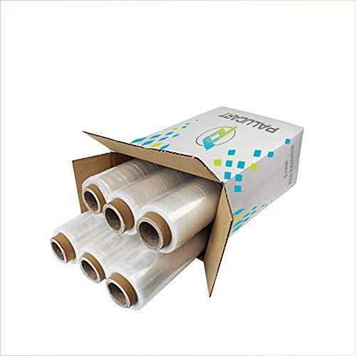 Pellicola 6 rotoli Pellicola Film estensibile manuale trasparente spessore 23 my, 2,2 Kg, altezza...