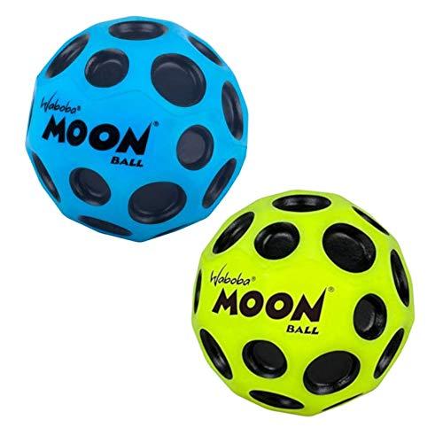 Waboba Moon Bounce Ball (2 Stück Blau + Gelb)