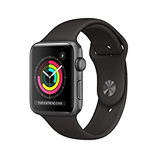 AppleWatchSeries3 (GPS) concaja de 42mm de aluminio engris espacial ycorrea deportiva, Negra (B07HKTD64S) | Amazon price tracker / tracking, Amazon price history charts, Amazon price watches, Amazon price drop alerts