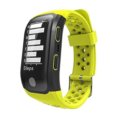 GPS Activity Tracker Pulsometer Uhr Fitness Schrittzähler PulsmesserIP68 Smart Bracelet-Yellow_no_Retail_Box